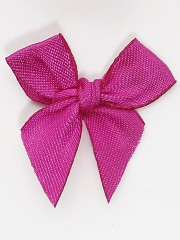Fuschia Satin Bow